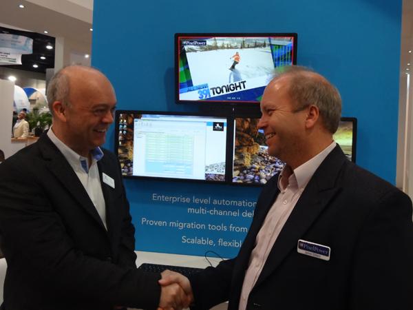 Ian Cockett CTO with James Gilbert CEO of Pixel Power
